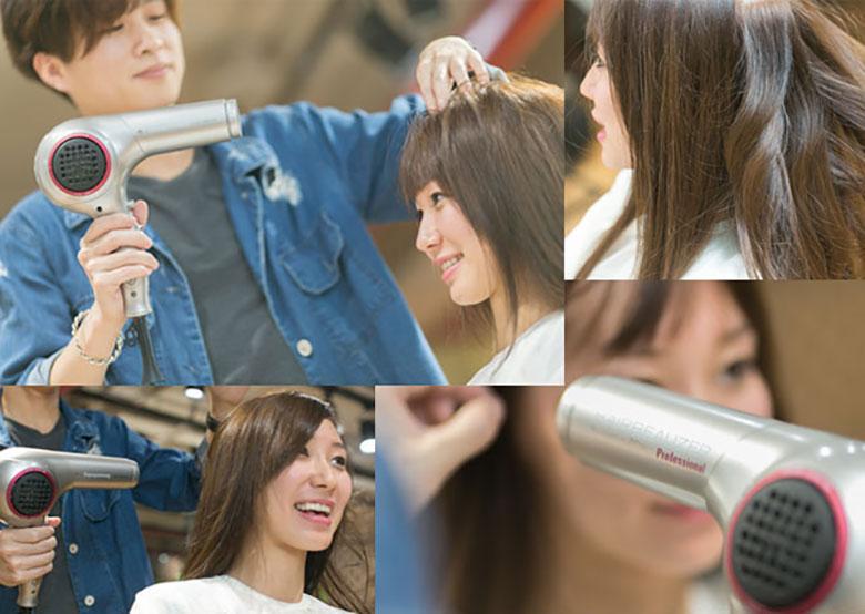 使用LUMIELINA 2D PLUS露米光彩吹风机打造发型