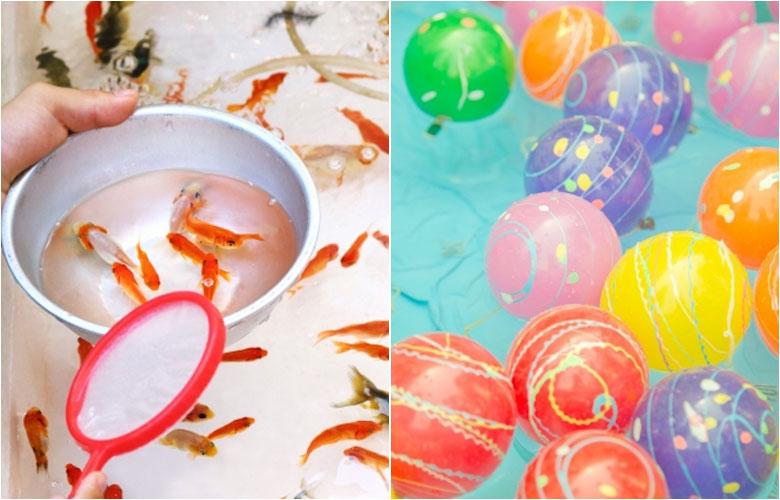 捞金鱼 钓水球 套圈圈