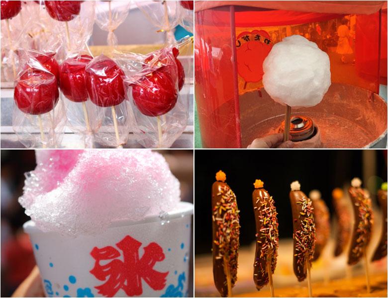 苹果糖・巧克力香蕉・棉花糖・刨冰
